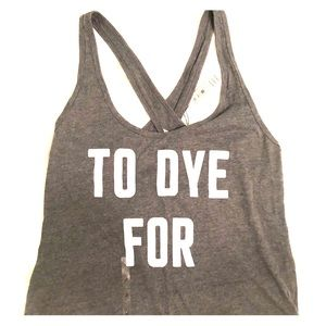 "VS Pink grey ""to dye for"" tank"